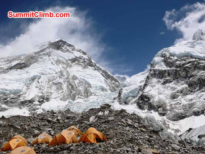 Everest basecamp on a gorgeous morning. Elmo Francis Photo