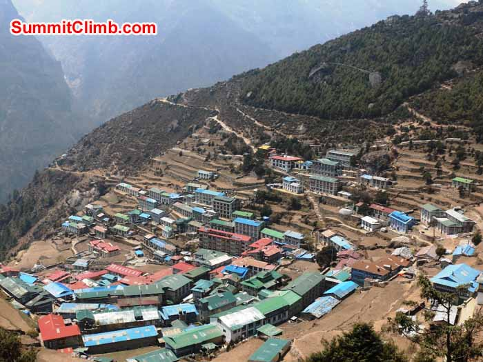 Namche Bazar, capital of the Khumbu Sherpas. Photo Elmo Francis