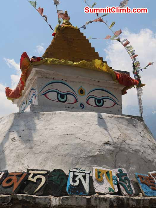Stupa at the Tibetan Camp in Namche. Photo by Elmo Francis