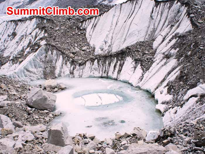 Khumbu Glacier ice lake. Gary Murray Photo