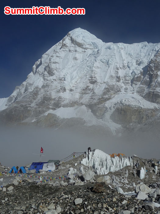 The last team at Everest Basecamp - Sagarmatha Pollution Control Committee Camp. Photo by David Maidment