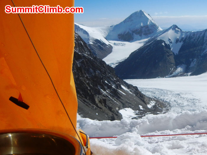 imagesView from tent at Camp 1 (North Col) of Lhakpa Ri - Photo Scott Patch.