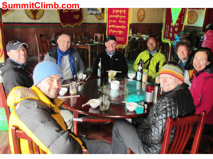 Lunch in Tingri Tibet -  Photo taken by Arni Vatnhamar