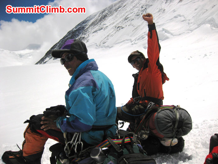 Sherpas Lhakpa and Chongka at base of North Col - Photo Mia Graeffe.