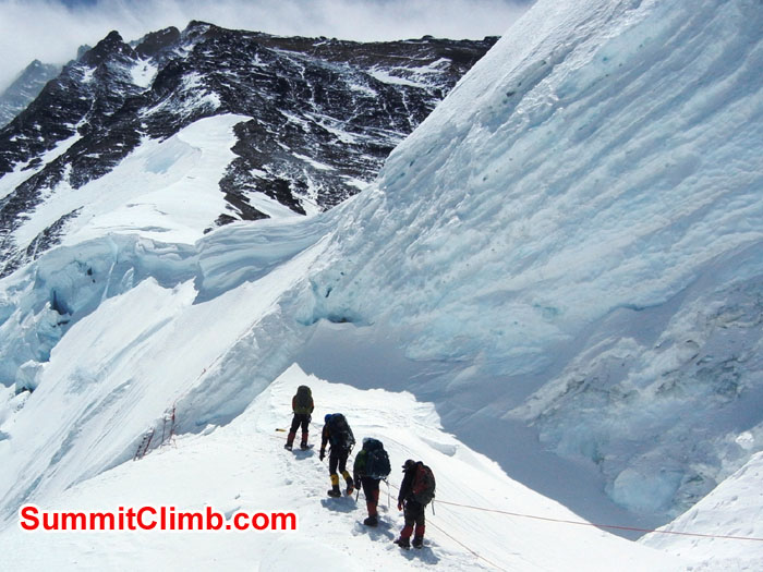 Members climbing to North Col - Photo Scott Patch