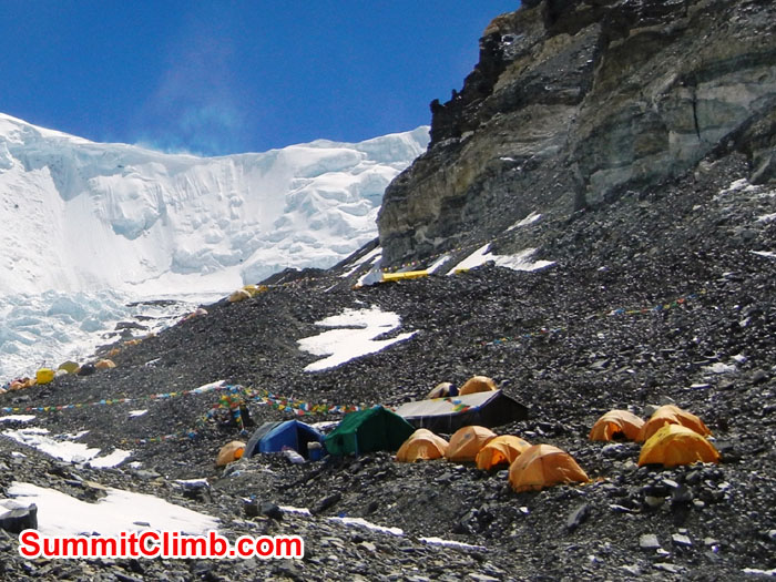 Our Advanced Base Camp with the North Col and Everest in Background - Photo Scott Patch