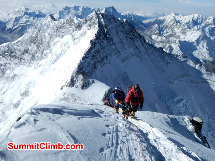10 minutes away from the summit of Everest. Photo Mike