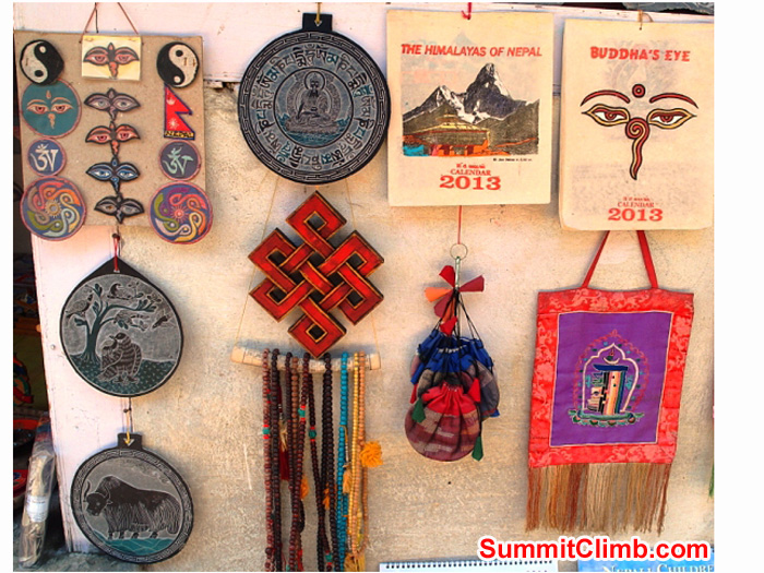 Souvenirs for sale in Namche Bazar. Monika Witkowska Photo.