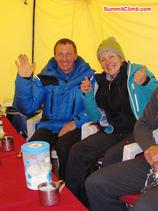 Everest climbers Denis Urubko and Monika Witkowska. Photo by Sergei.