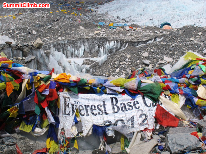 Welcome to Everest Base Camp. Monika Witkowska Photo.