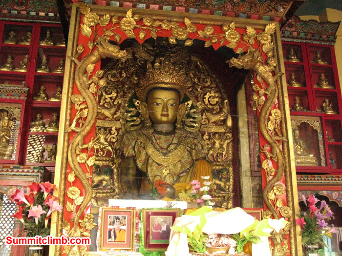 Inside one of the many internal shrines at the monkey temple. Photo Rares Voda.