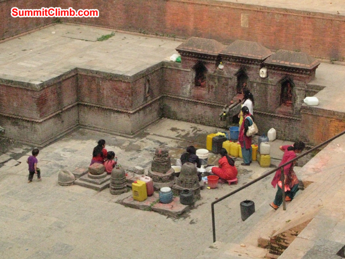 A Dhunge Dhara is a traditional stone water tap found extensively in Nepal. Photo Rares Voda