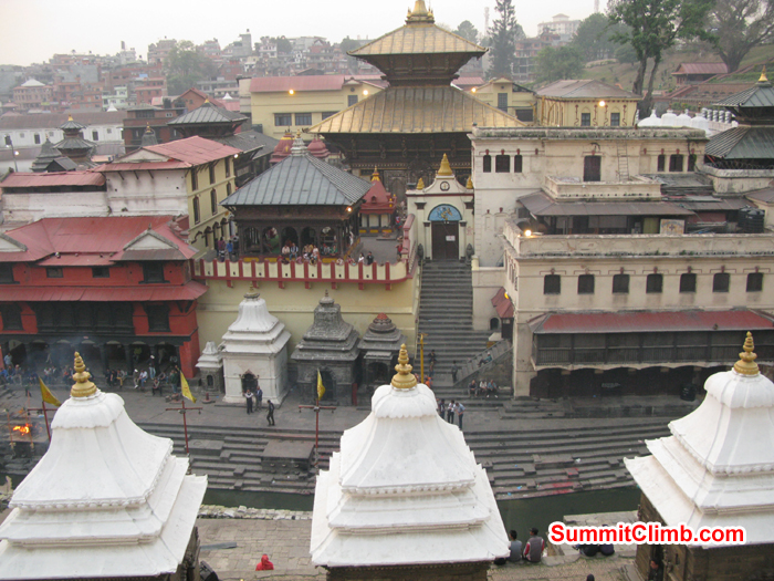 The biggest hindu temple called Pashupati  Nath. Photo Rares Voda