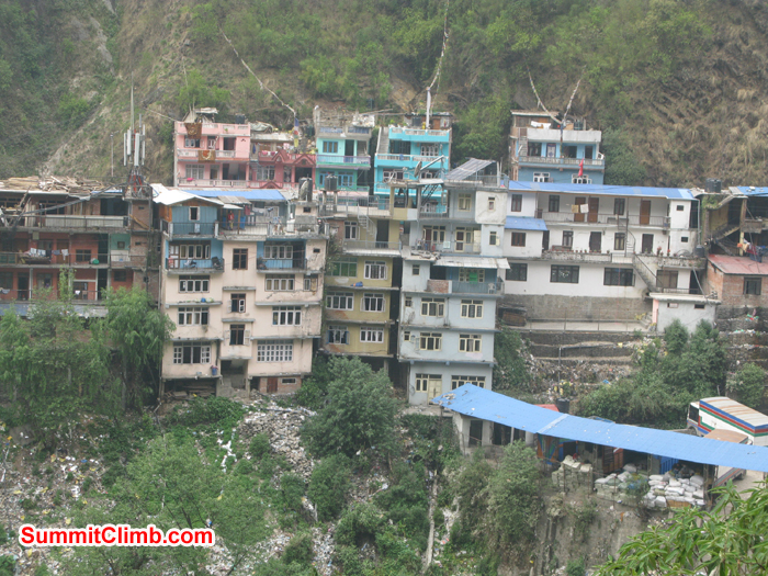 Houses at Kodari Boarder. Photo Rares Voda