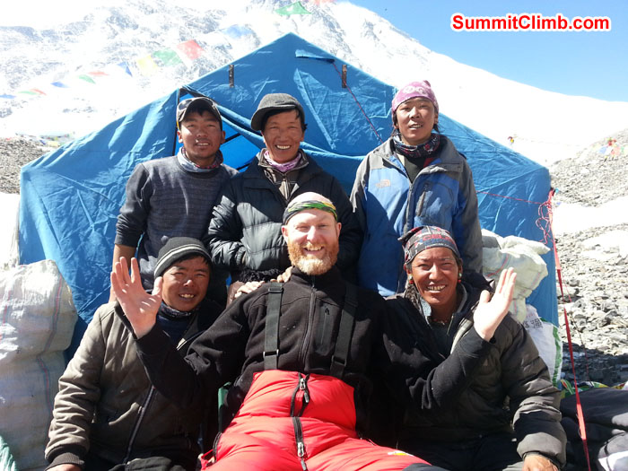 Matt Taylor with SummitClimb Staff. Photo Matt