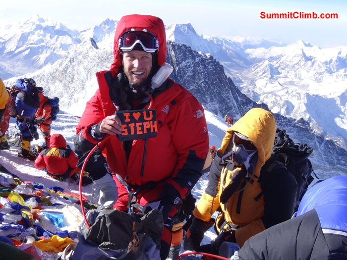 Summit Photo of Steve Pearson – Photo  David Roskelly