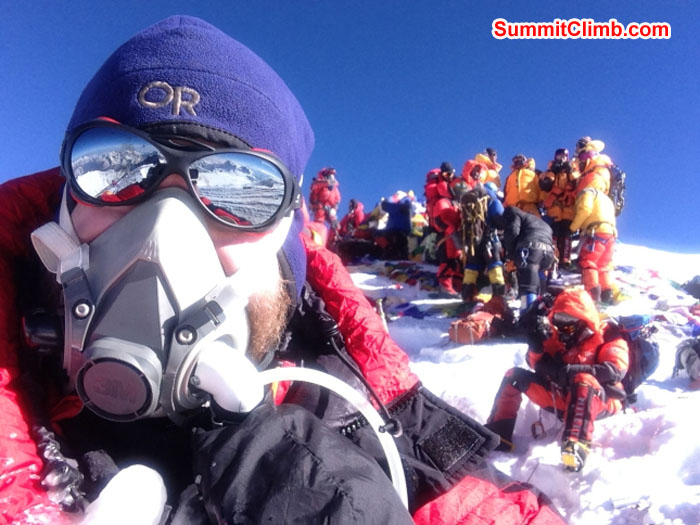 Summit of Everest by Chris Longacre. Photo Chris