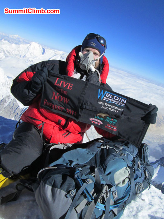 Summit of Everest by Chris Longacre. Photo Chris