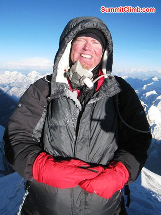 Scott Smith on the summit. Photo by Kieran Lally