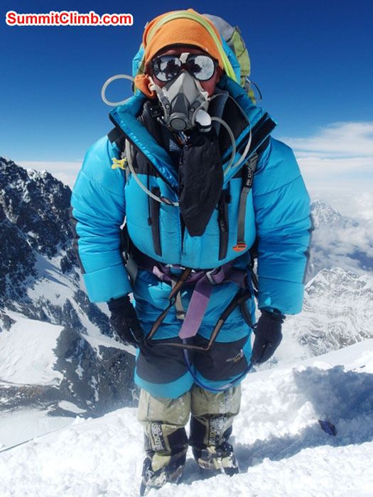 Jangbu Sherpa all geared up for the summit. Monika Witkowska Photo.JPG