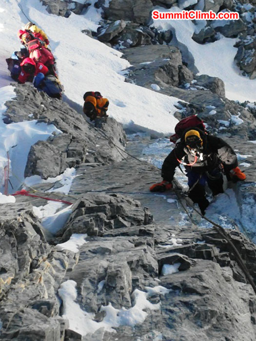 Team climbing the Hillary Step. Monika Witkowska Photo.JPG