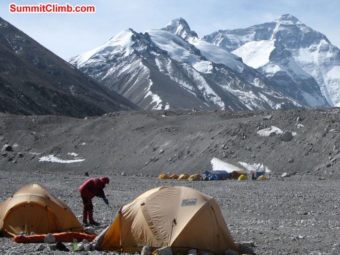 Base Camp, you can see clear view of Mt. Everest. Photo Rikke.