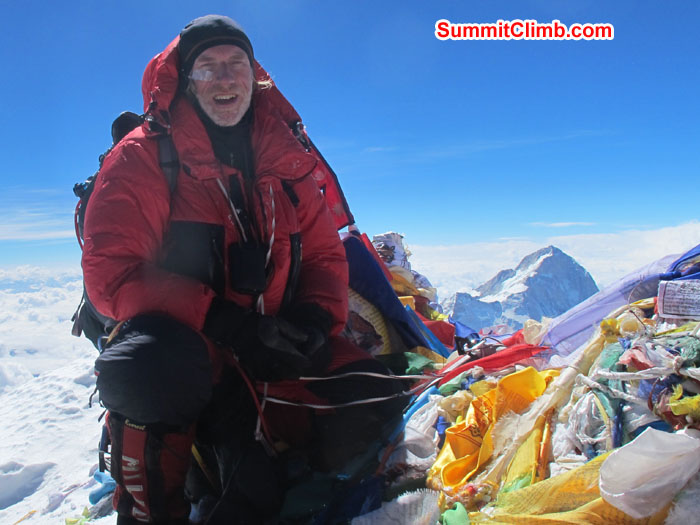 David at summit of Everest. Photo Chris Bailley