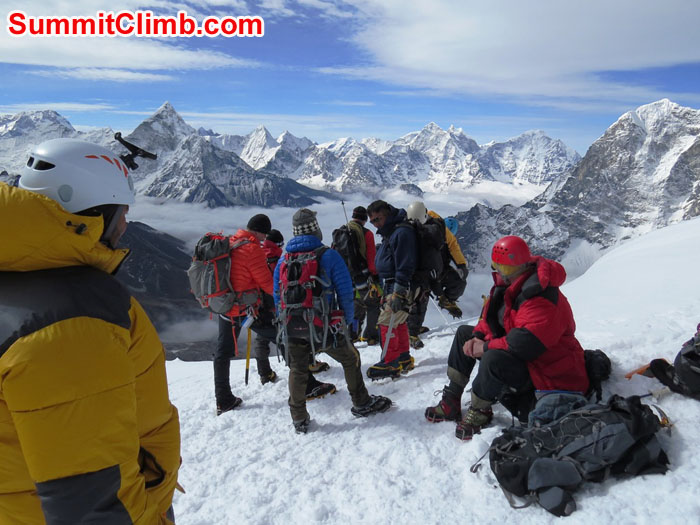 Everest Nepal Training Climb Tops Out. Photo by David Maidment