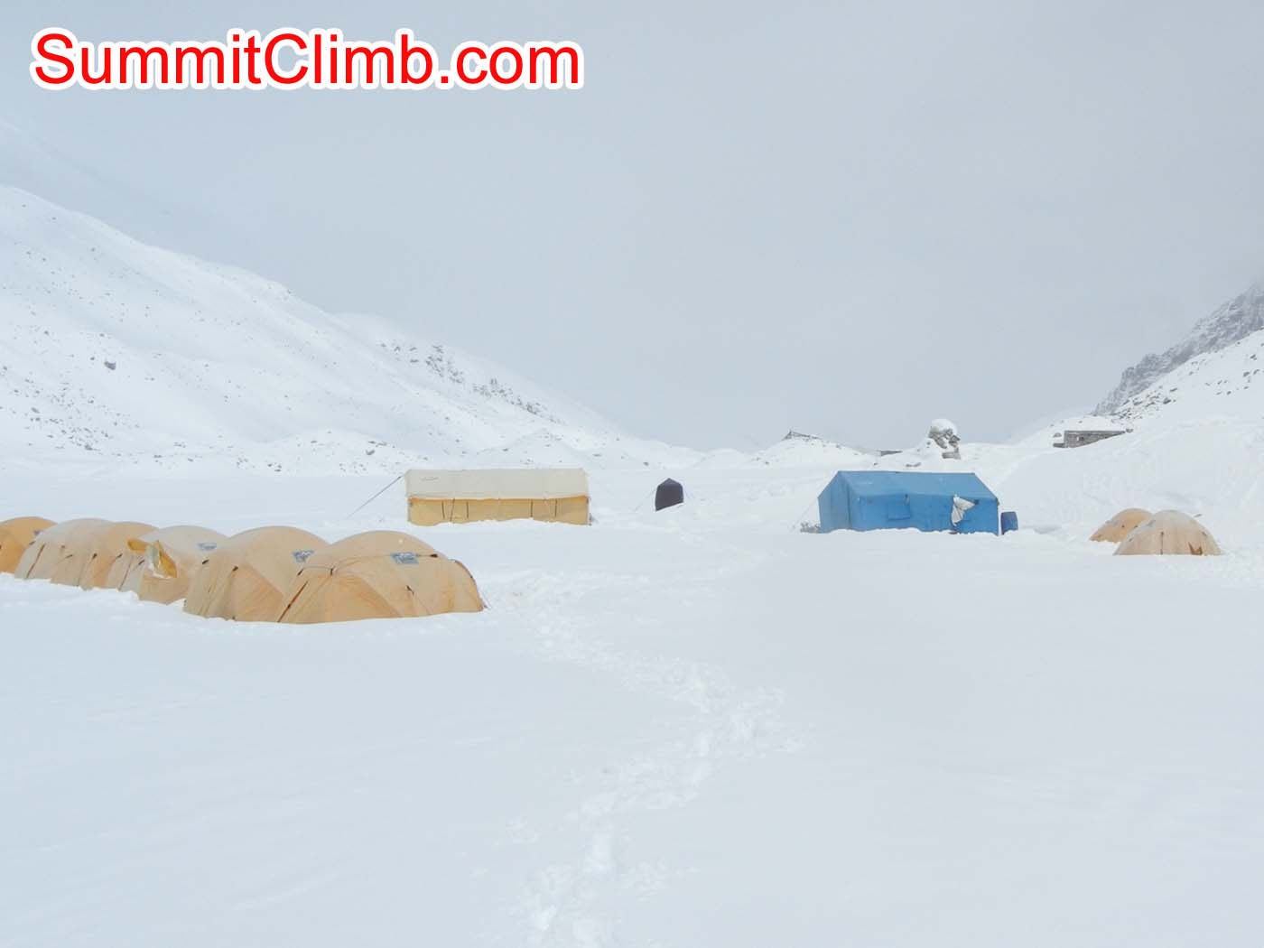 Everest Basecamp after digging out tents from snowstorm - Photo Scott Patch
