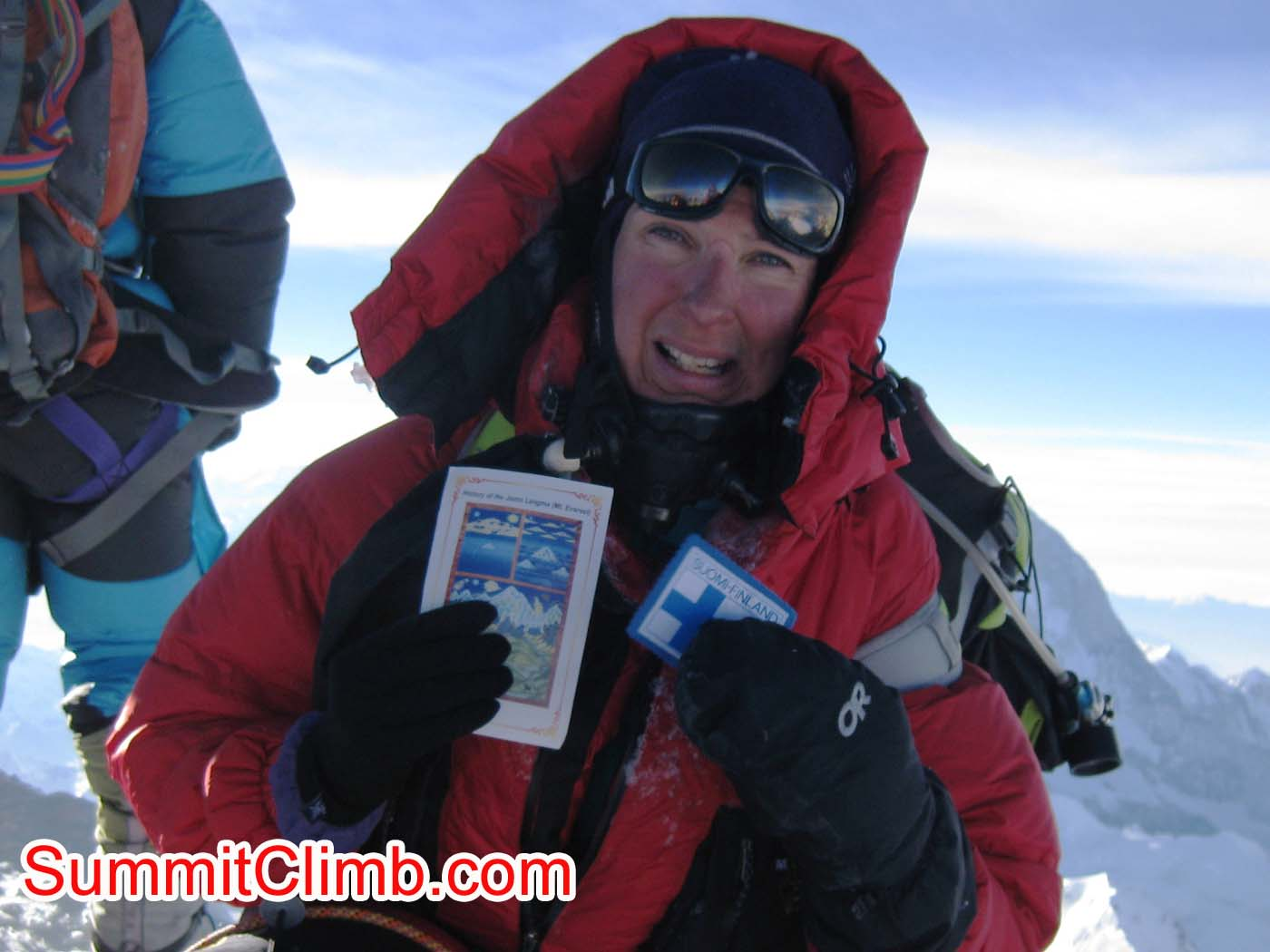 Mia Graeffe on Summit of Everest - First Female from Finland to summit Everest from Tibet - Photo Mia Graeffe