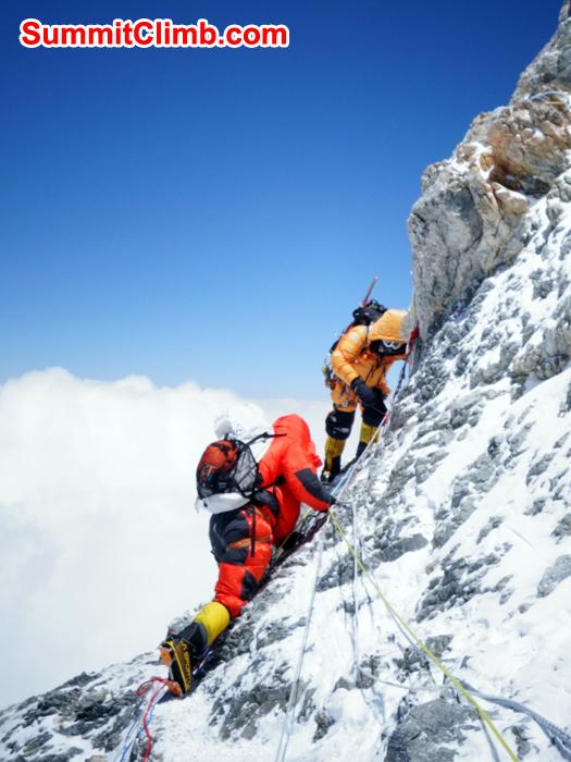 near to summit