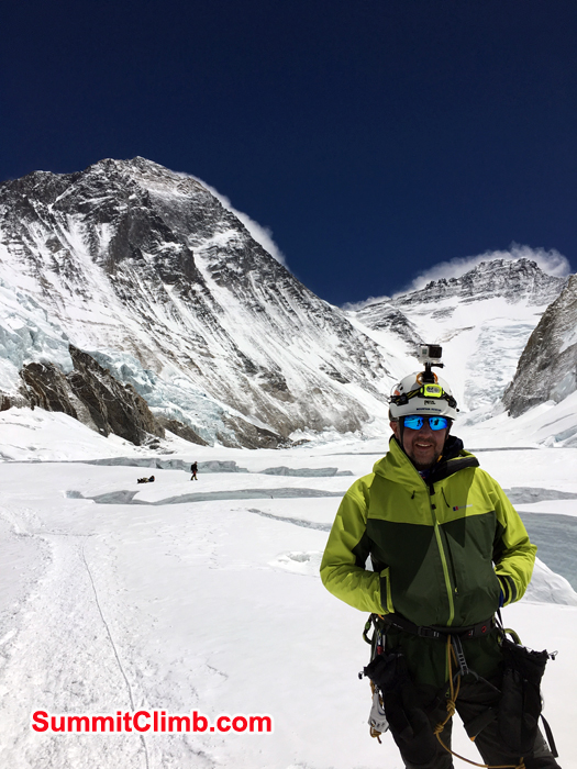 Andrew and Everest and Lhotse Background