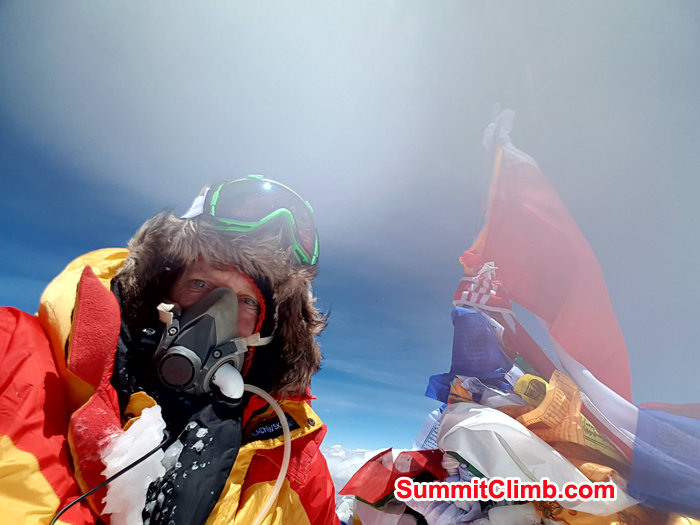 Arkadiusz Babij summit at Everest