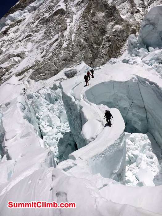 Climbers at Icefall