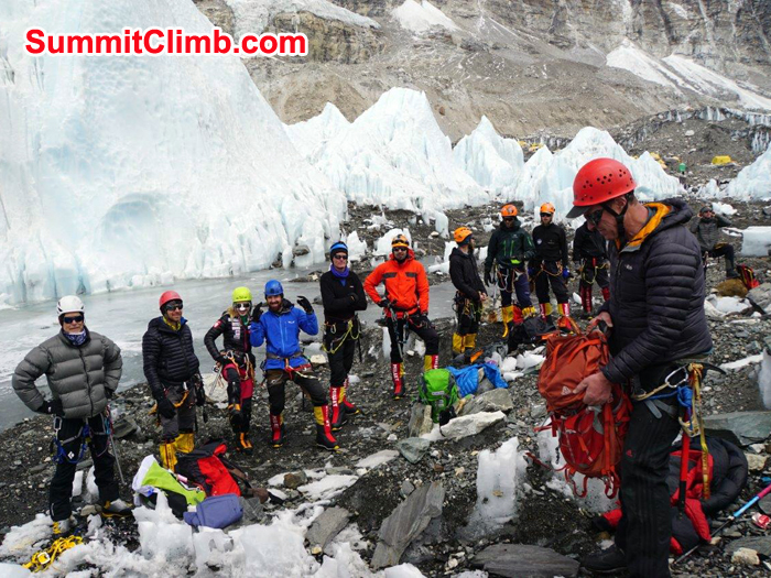 Dan and rest of Everest Team ready for Training with full personal equipments
