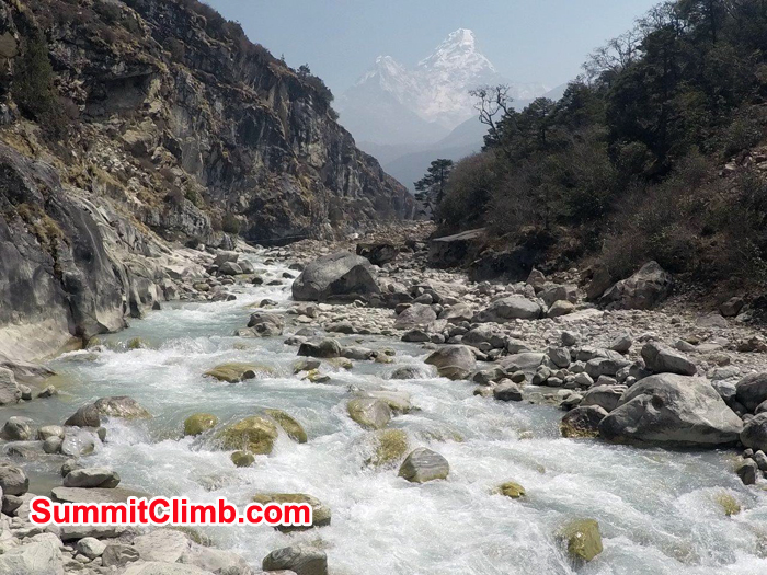 Dhud khosi river on the way to Everest Trek.