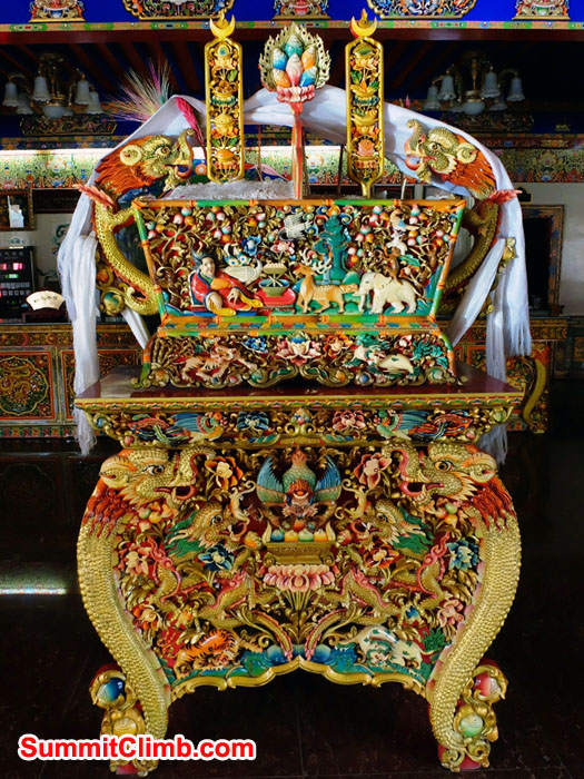 Elaborate incense burner in Shigatse