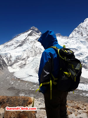 Everest Summit seen from Pumori ABC.