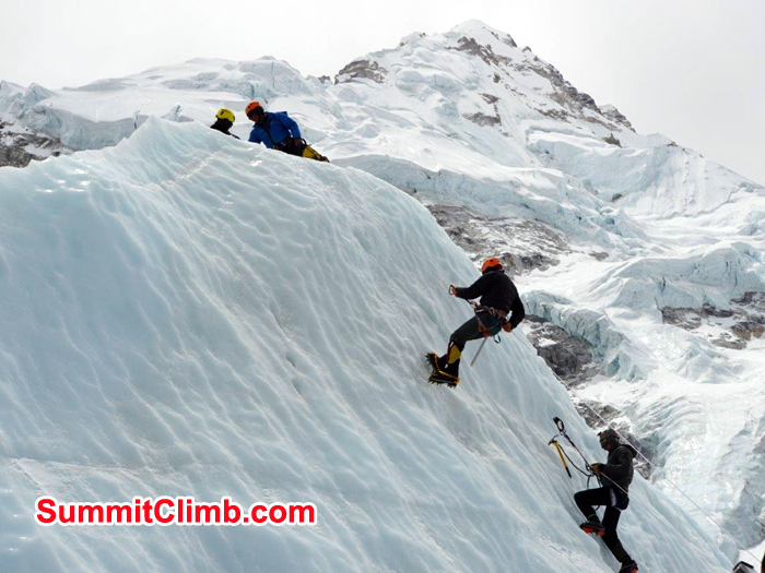 Fix rope training near big ice wall