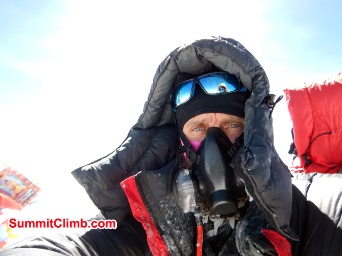 Mariusz Szczuraszek at the Summit of Everest