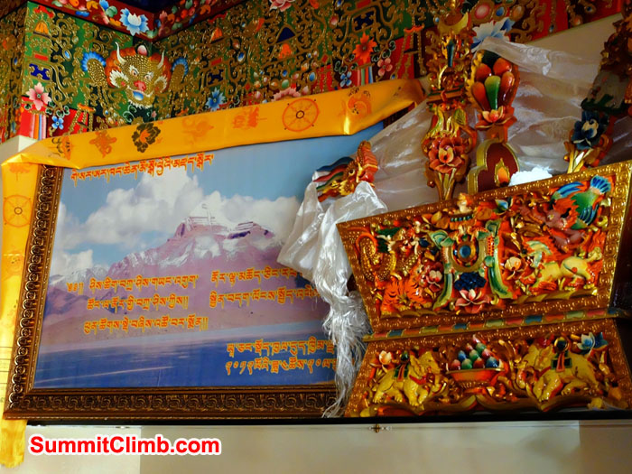 Mount Kailash and Beautiful deoration in Shigatse
