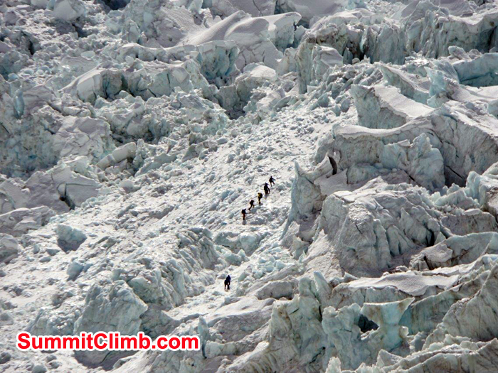 Sherpas at the Khumbu Ice Fall