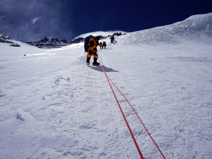 coming back from camp 3 everest