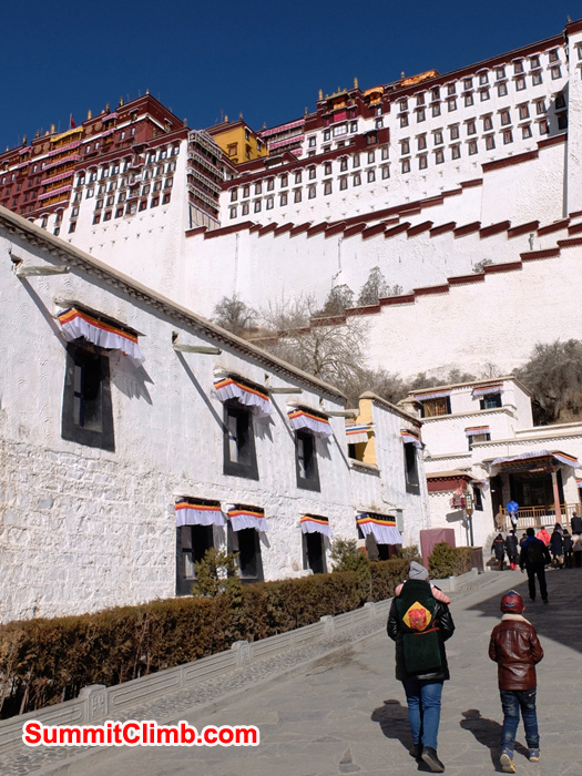 Walking into the Potala Palace.
