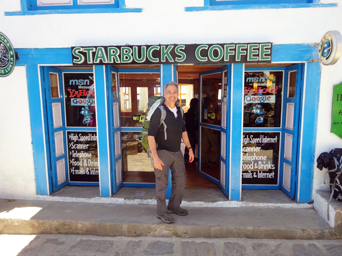 Welcome to StarBucks coffee at Lukla. Photo Jeff Sorrel
