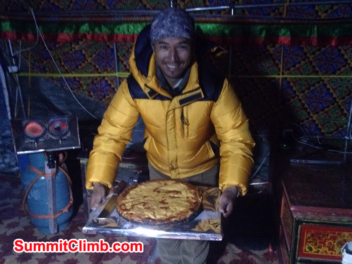 birthday cake presenting by Galze Sherpa