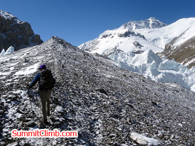 everest climb New tingri