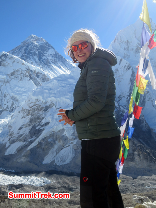 Dana at Kalapather with the view of Everest