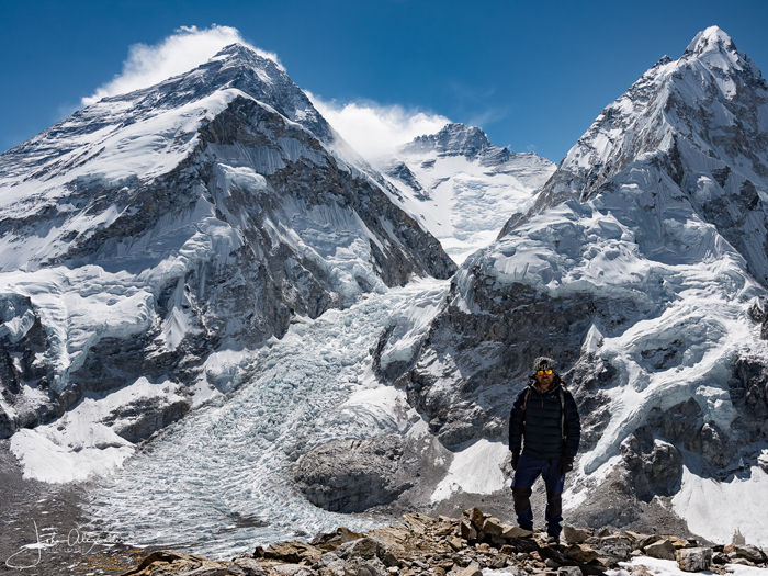 Everest, lhotse and Nuptse seen from Pumori ABC