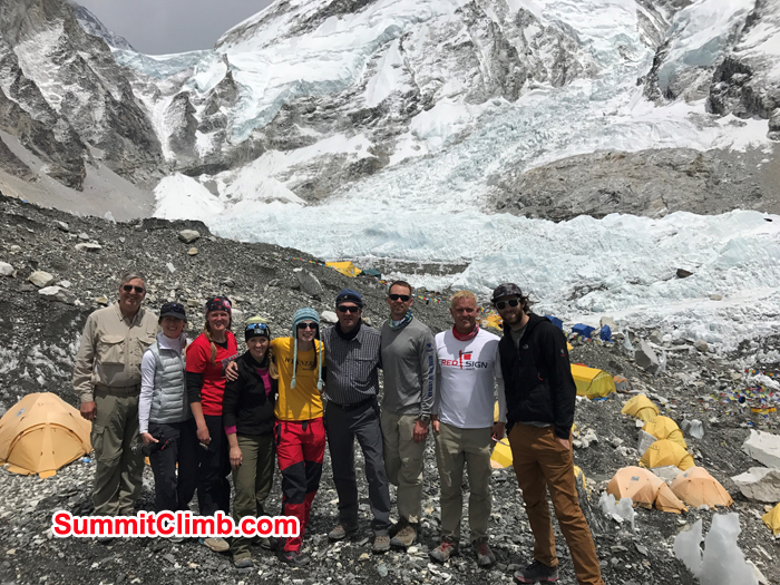 Everest Basecamp trek group at Basecamp Camp